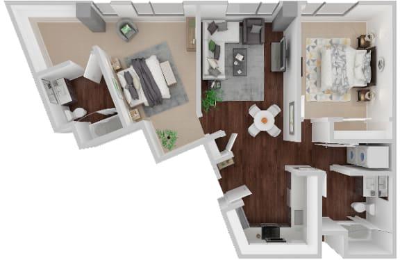 Floor Plan  Market Floorplan 2x2