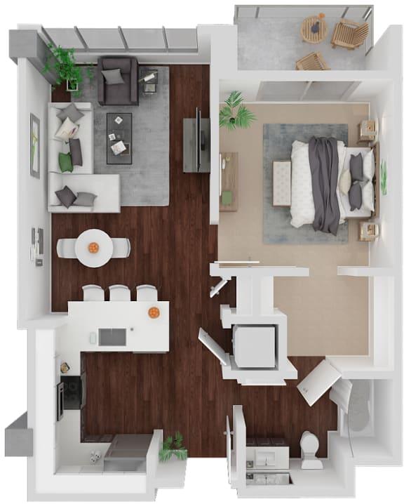 Floor Plan  Venn Mission Floorplan 1x1