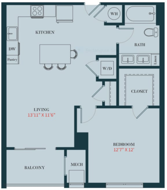 The Monarch One Bedroom Apartment Home - A3