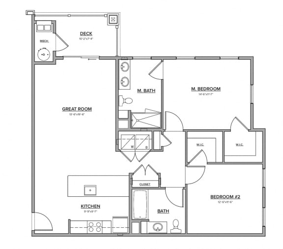 The Dooley Floorplan