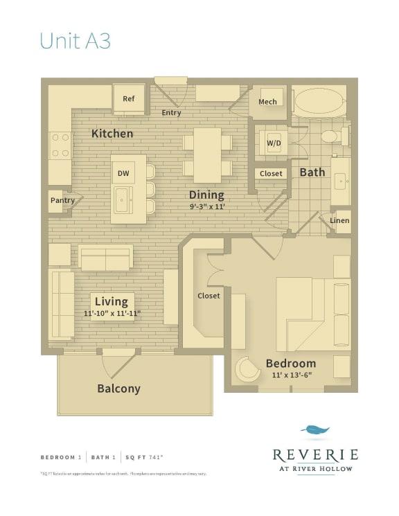 reverie floor plan unit a3