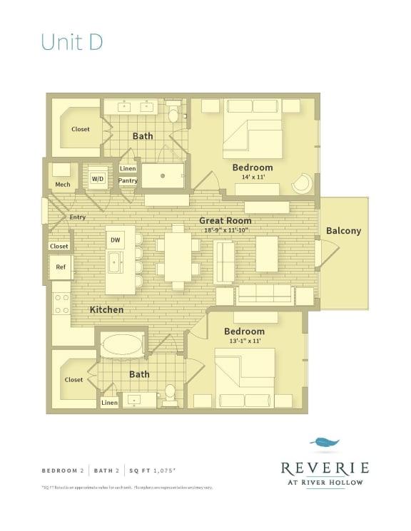 reverie floor plan unit d