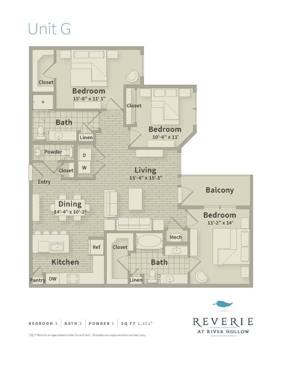reverie floor plan unit g