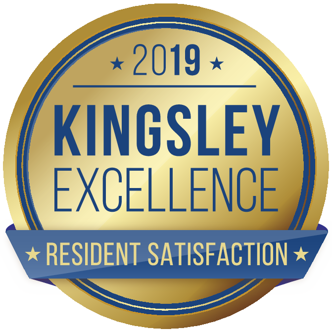 Kingsley Excellence Resident Satisfaction Award from 2020