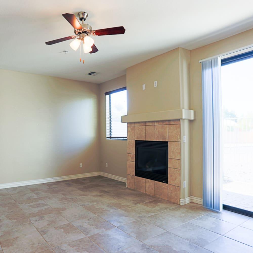 Living room at Villa Contento Apartments in Scottsdale, AZ