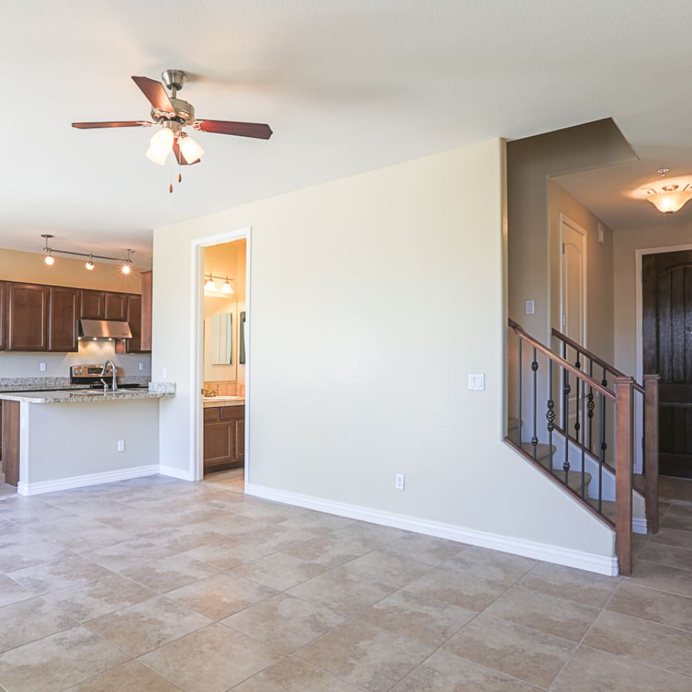 Dining area at Villa Contento Apartments in Scottsdale, AZ