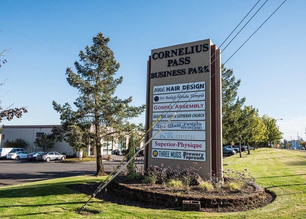 Cornelius Pass Business Park Sign