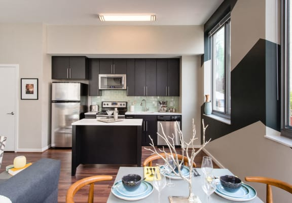 Stainless Steel Appliances In Kitchen at The George, Wheaton