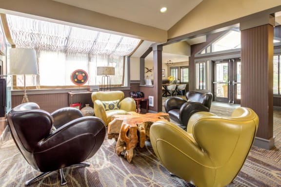 Westhaven Apartments Clubhouse interior and Seating Area