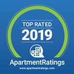 Award logo for Apartment Ratings top rated 2019