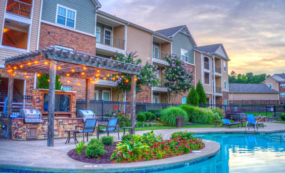 chenal pointe resort style pool