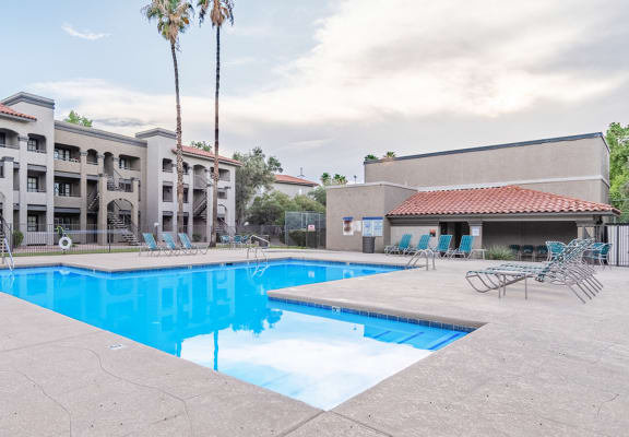 Canyon oaks pool view with nice relaxation areas