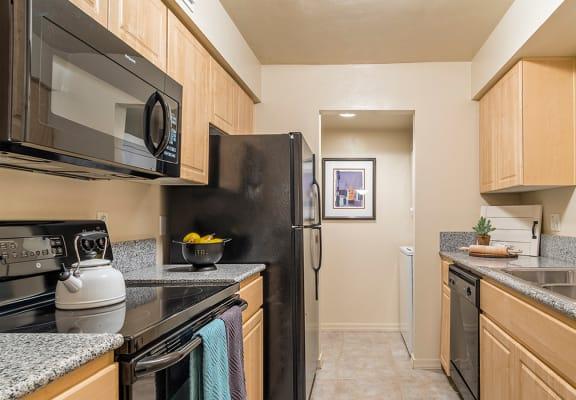 El Dorado Place galley style kitchen.