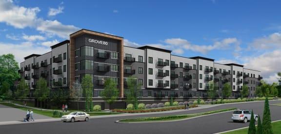 Grove80 exterior rendering
