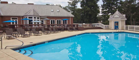 Swimming Pool And Relaxing Area at The Timbers, Richmond, VA, 23235
