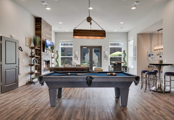 Pool Table At The Clubhouse