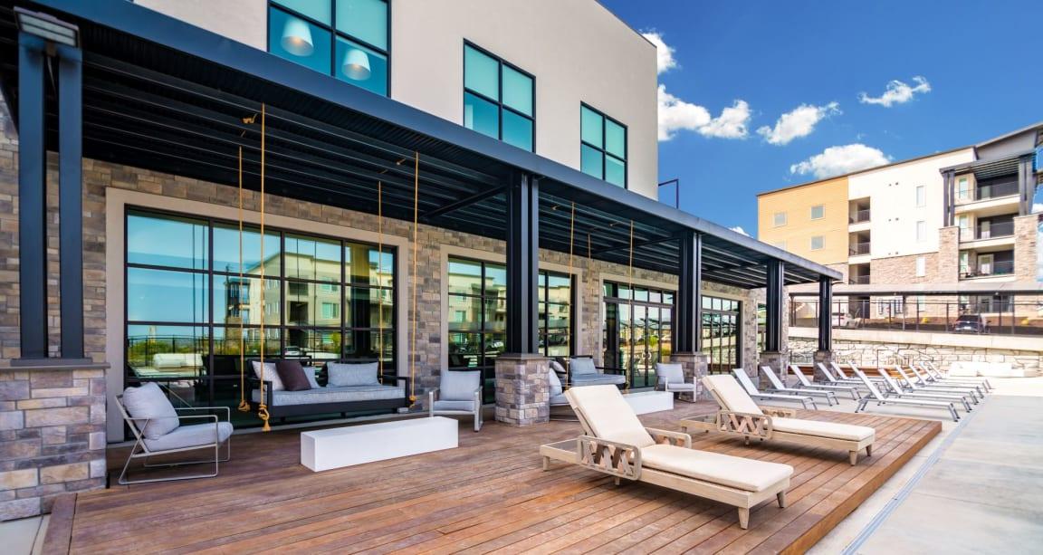 Picturesque Pool And Cabana Setting at Soleil LoftsApartments, Herriman, Utah