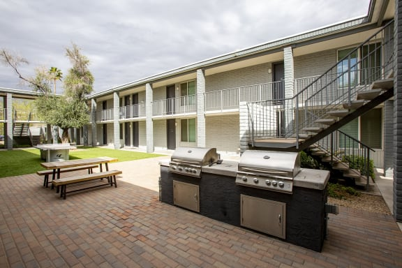 BBQ Grill Area at GC Square Apartments in Glendale AZ