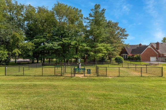 Pet park at Carrington Apartments in Hendersonville TN March 2021