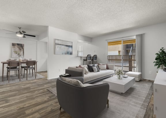 Dinning Room and Living Room at Papago Crossing Apartments in Phoenix AZ 2021