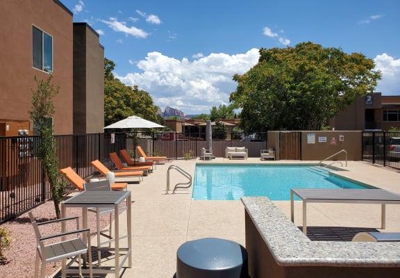 Pool at Piñon Lofts Apartments in Sedona Arizona