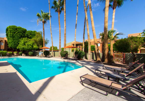Pool & Pool Patio at Regency Square Apartments in Yuma, AZ
