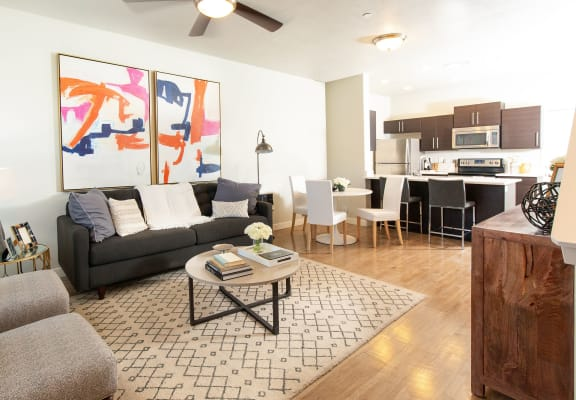 Modern Art Deco Living Room at Parc on CenterApartments& Townhomes, Utah