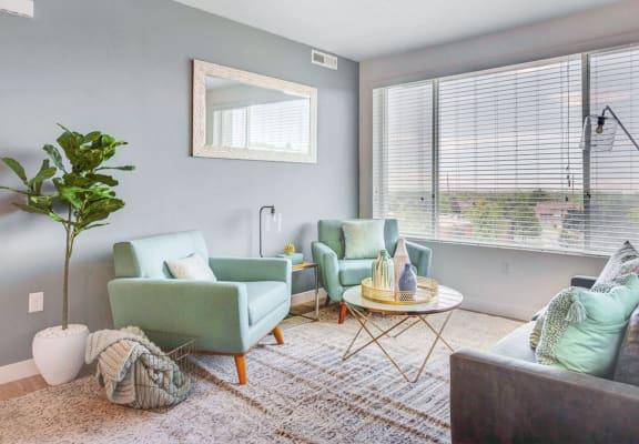 Expansive Living Room at Element 31Apartments, Salt Lake City