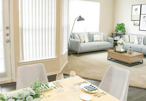 Contemporary Dining Room at Trailside Apartments, Colorado