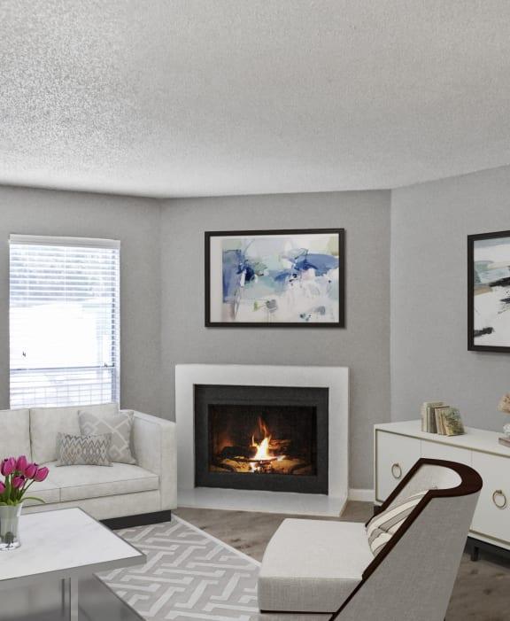Hidden Oaks Apartment Homes living area with decor