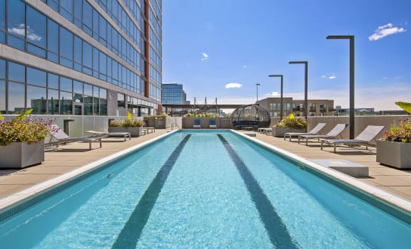 Pool at Reside on Green Street