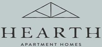 Logo at Hearth Apartment Homes
