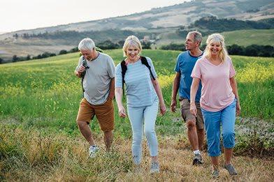 55 and over friends hiking near Villa del Sol Apartments in Santa Maria CA