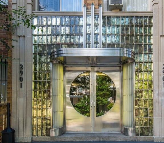 front door at Park Crescent Apartments in Washington, DC