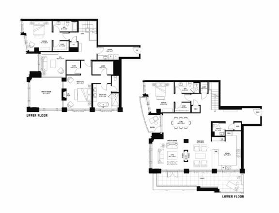 South 3102 penthouse at The Bravern, Bellevue, WA