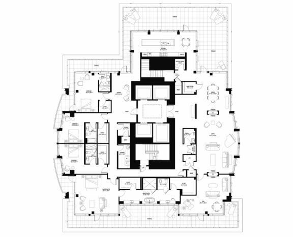 South 3301 penthouse at The Bravern, WA, 98004