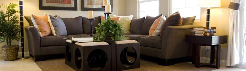 Living room at El Rancho Del Arte in Mesa AZ