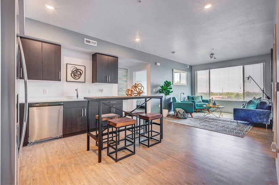 Comfortable Living Room at Element 31Apartments, Utah