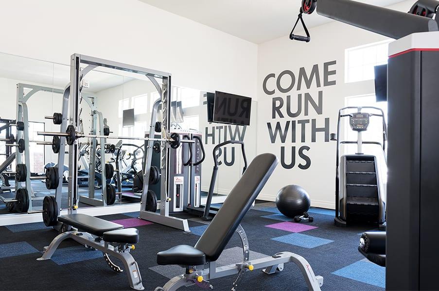 Fitness Center With Modern Equipment at RivuletApartments, Utah