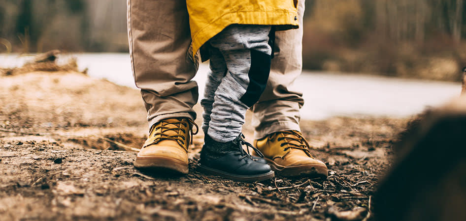 Father and son at Avena Apartments, Colorado, 80233