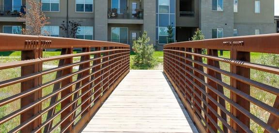 Wooden Bridge at Lofts at 7800Apartments, Midvale