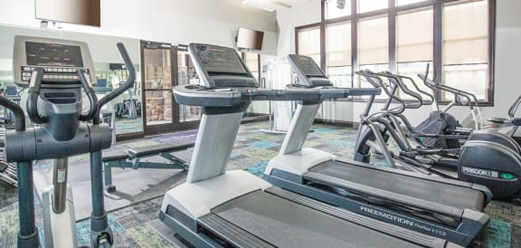 Two Level Fitness Center at San Moritz Apartments, Utah, 84047