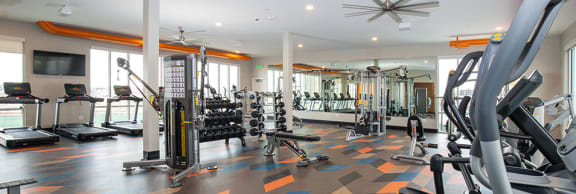 Two Level Fitness Center at Parc View Apartments & Townhomes, Midvale, 84047