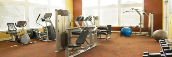 Fitness Center With Modern Equipment at Talavera at the Junction Apartments & Townhomes, Midvale, Utah
