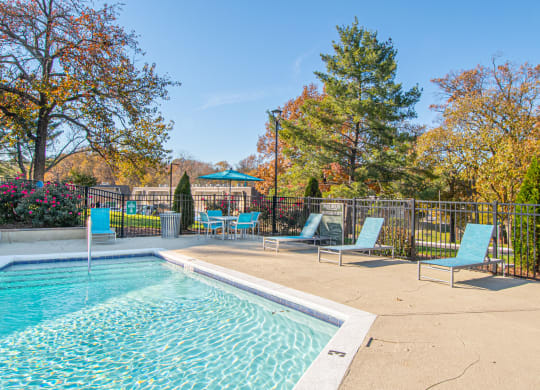 Glimmering Pool at Nob Hill Apartments, Nashville, Tennessee