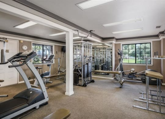 State Of The Art Fitness Center at Oxford Park Apartments, Fresno, CA