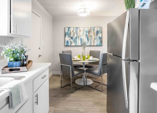 Renovated apartment homes available with stainless steel appliances