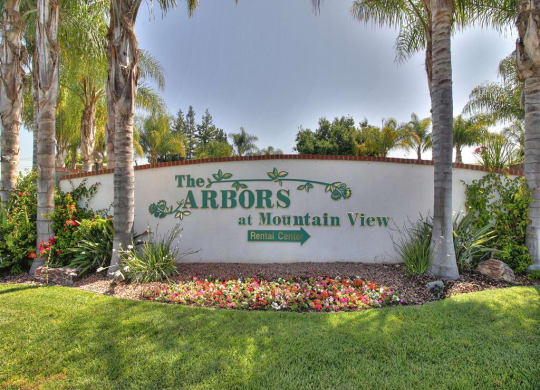 front sign at The Arbors at The Arbors at Mountain View, Mountain View, CA