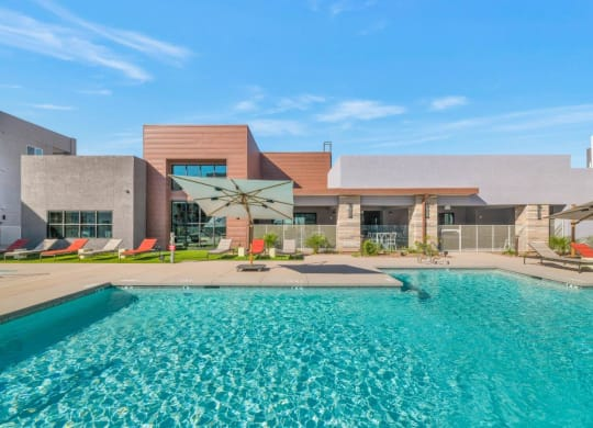 Glimmering Pool at Grayson Place Apartments, Arizona