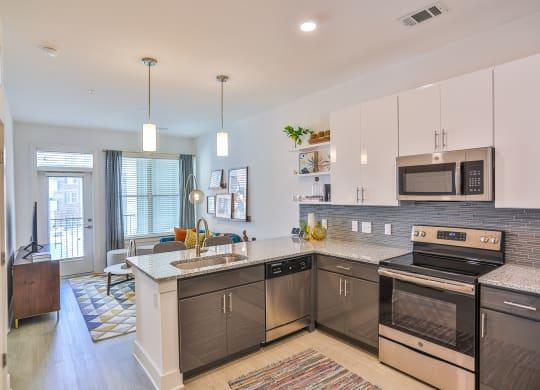Model Kitchen at Link Apartments® Montford, Charlotte, 28209